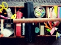 home school ideas, organization home school, diy school caddy