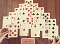card games, math card games, solitaire, pyramid solitaire, finding the sum game