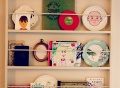 DIY plate rack, Repurpose a plate rack, creativity in home, homeschool art