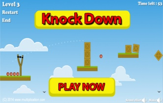 Knock Down Subtraction Preview | multiplication.com