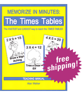 Memorize in Minutes: The Times Tables cover image