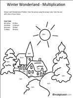 Free Christmas Multiplication Coloring Worksheets ...